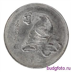 Монета с изображением обезьяны