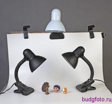 настольные лампы в предметной съемке