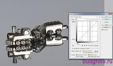 Вид гистограммы снимка блестящего предмета