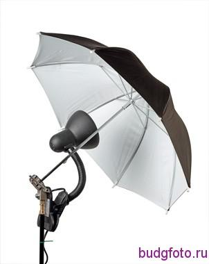 Лампа с зонтиком на отражение.