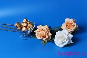 Натюрморт конфеты и розы