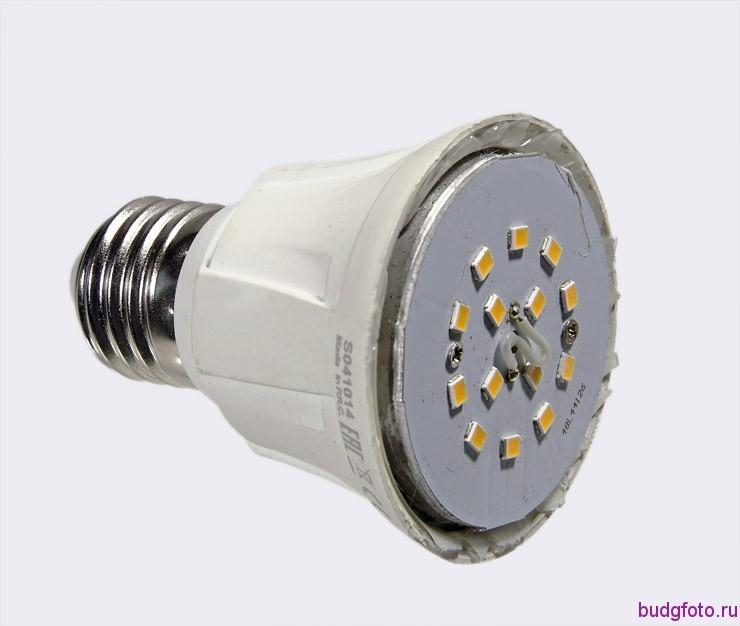 светодиодная лампа без плафона