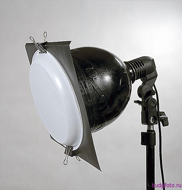Одноразовая тарелка-светофильтр.
